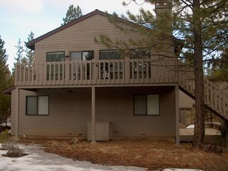Sunriver house photo - 2 Flat Top Lane Rear View with Deck