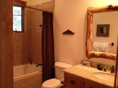 Master Bathroom #2: attached to Master bdrm #2, includes a bubbling soaking tub.