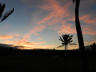 Sunrise from our lanai