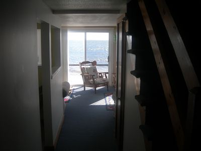 hall downstairs, oceanview from front entrance