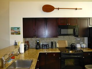 Waikoloa Beach Resort condo photo - New faucet, granite counter tops, new coffee grinder/maker, spice rack, more