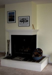 Wood burning fireplace for cozy evenings; another in the master bedroom!