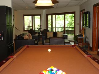 Big Canoe house photo - Terrace view from gaming pool/ping pong table.
