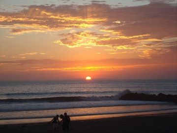 Ventura house rental - A picture of a perfect Sunset taken from this Beach House, not a postcard.
