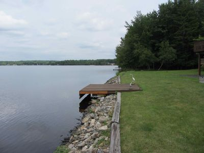 Private dock and shoreline