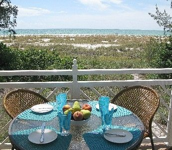 Anna Maria villa rental - View of beach from dinning deck