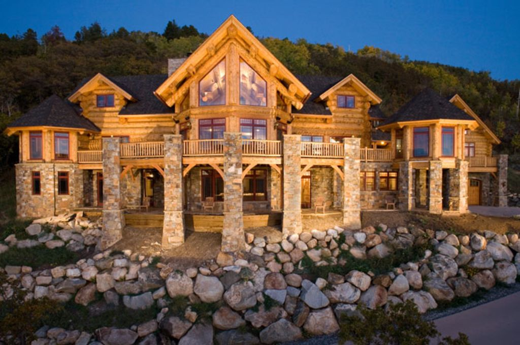 up to 40 off ski season custom log home vrbo. Black Bedroom Furniture Sets. Home Design Ideas