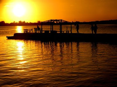 Our fishing pier at sunset