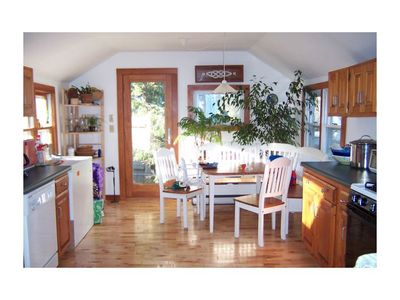 Falmouth cottage rental - Bright and sunny fully stocked kitchen with upgraded appliances.