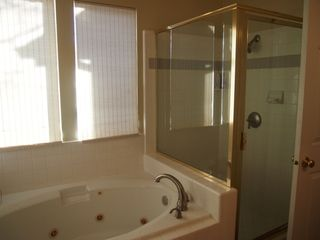 Cottonwood Heights townhome photo - Master bathroom with jetted garden tub and individual stand-up shower