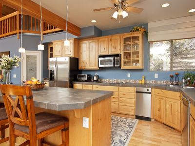 Prescott house rental - Enjoy the view and cook up a storm, or have the hubby BBQ instead.