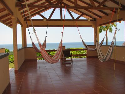 Terraza, Hammocks, a Breeze, the View, a Drink, a Book, a Sunset ... Vacation!!