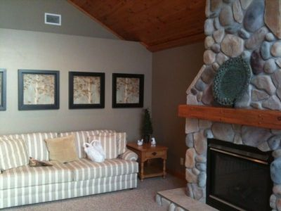 Snuggle by fireplace in the Living Room or use the one in the Master Bedroom.