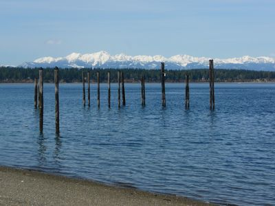 View of Olympic Cascades from North Beach