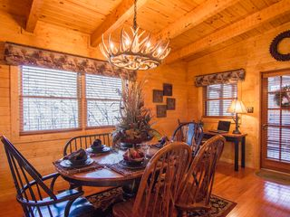 Pigeon Forge cabin photo - dining room set up up for 6 people with walkout to screened in porch
