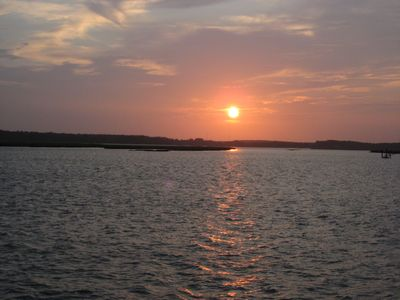 Callawassie Island villa rental - Sunset over river