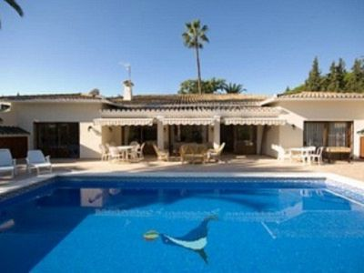 Large luxury villa with  heated swimming pool & walking distance of Puerto Banus