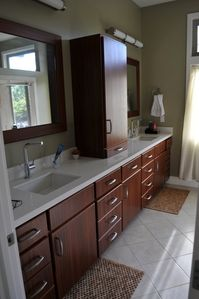 Master bath. It also has a large walk in shower and walk in closet