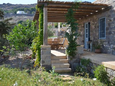 Traditional Stone House with the best location in Patmos – The Farm House - The Farm House