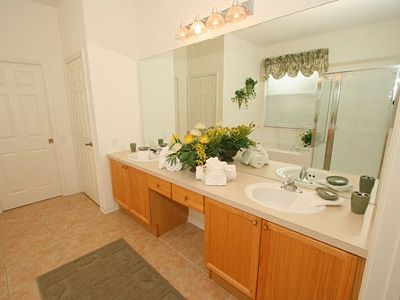 Ensuite to King Bedroom. Double Sink, Bath, Separate Shower, WC, Dressing Area.