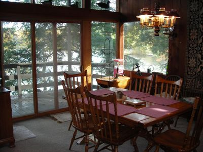 Dining Area with View to Lake