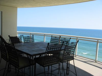 Large Dining Table & Chairs on Balcony