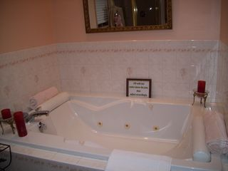 Lake Ariel house photo - Master Bathroom~Jacuzzi for 2~Skylight~With Mood Lighting