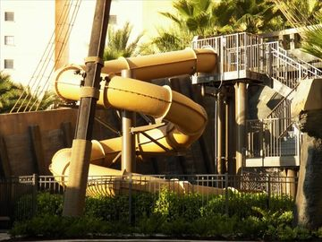 Water slide at the pirate ship