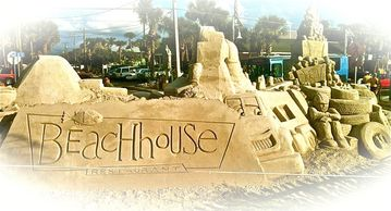 Annual Sand Castle competition across the street at the Beach House restaurant