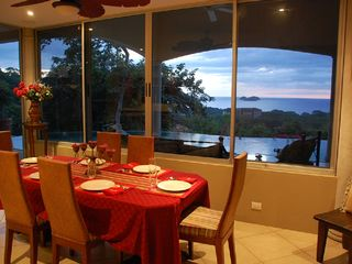 Playa Hermosa house photo - Dining Table with View over Hermosa