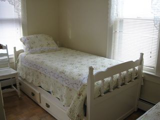 Twin bedroom, two beds, second floor in the apartment. - Ocean Grove house vacation rental photo
