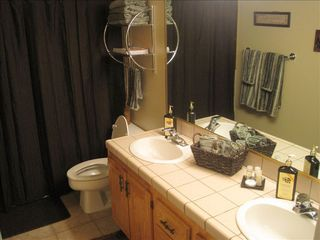 St. George condo photo - Guest Bathroom with Garden Tub/ Shower combo and His and Her sinks