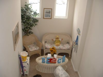 Wildwood condo rental - Bright Cheerful landing to enjoy reading or a short nap.