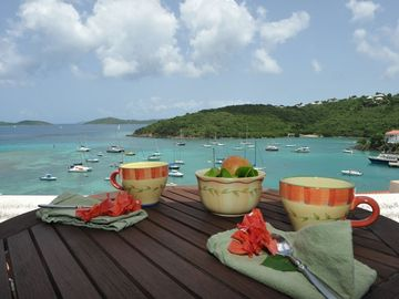 Relax on the balcony while watching the boats and enjoying the Carribean weather