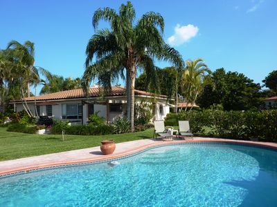 Boca Raton house rental - Rear of house seen from pool
