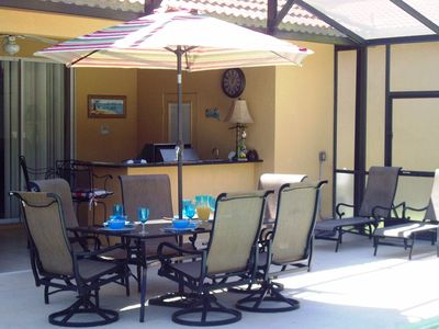 Enjoy our outside dining and relax with a chilled beverage at our pool bar