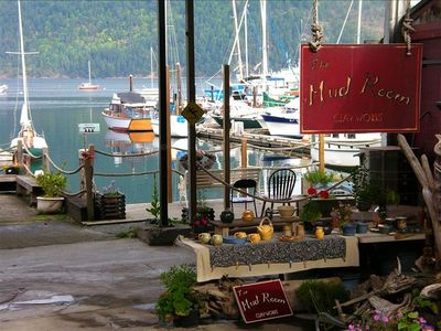 Nearby seaside Cowichan Bay, with its lovely little shops to browse
