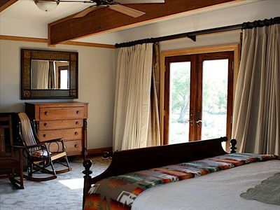 Master Bedroom (with view of doors leading to the deck).