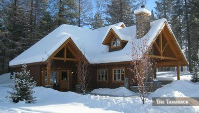 Chalet in the winter.