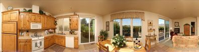 Panoramic View of Inside of Cottage