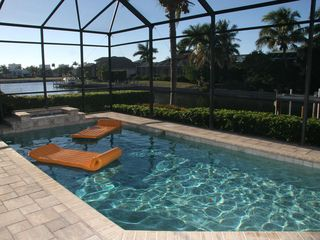 Marco Island house photo - Heated pool with water feature.