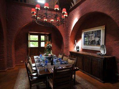 This exquisite dining area welcomes families from around the world.