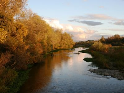 Beautiful Russian River in the fall