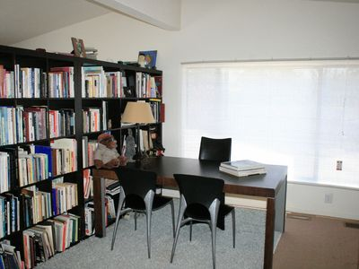 Book collection and office space