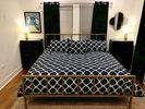 Comfy King bed in Master, overlooking the patio and W. 6th Street