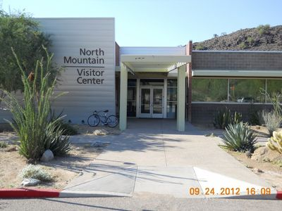 Visitor center at the hiking trails.