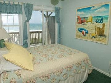 Second floor ocean front. large flat screen TV in this room beside the picture