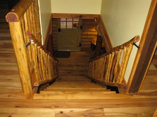 Madison cabin photo - Cedar stairway