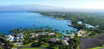 Your Mauna Lani Tropical luxury Villa with private beach club below.