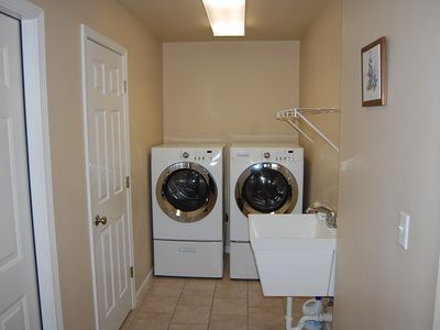 washer and dryer main level